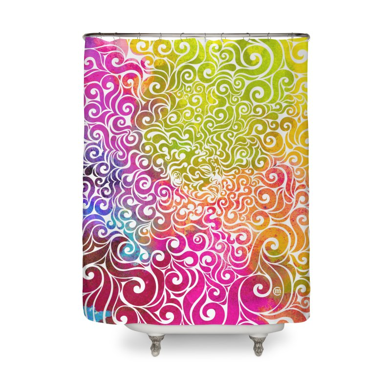 Swirly Portrait Home Shower Curtain by VectorInk's Artist Shop