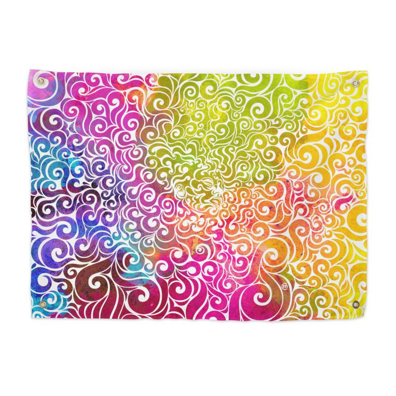 Swirly Portrait Home Tapestry by VectorInk's Artist Shop