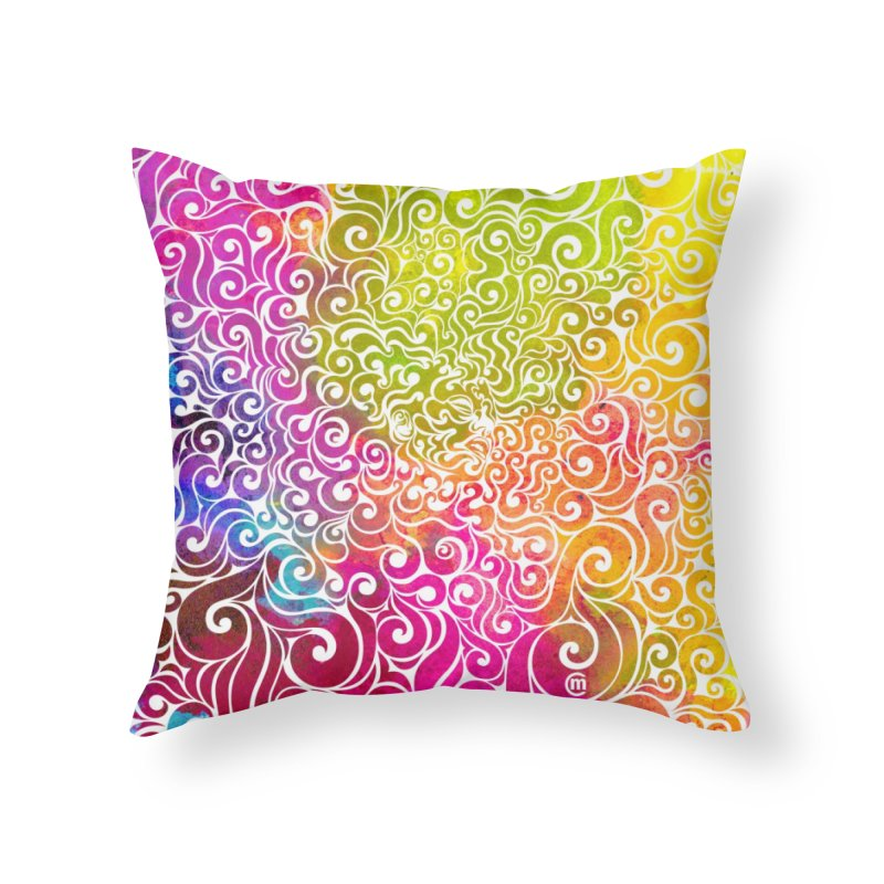 Swirly Portrait Home Throw Pillow by VectorInk's Artist Shop