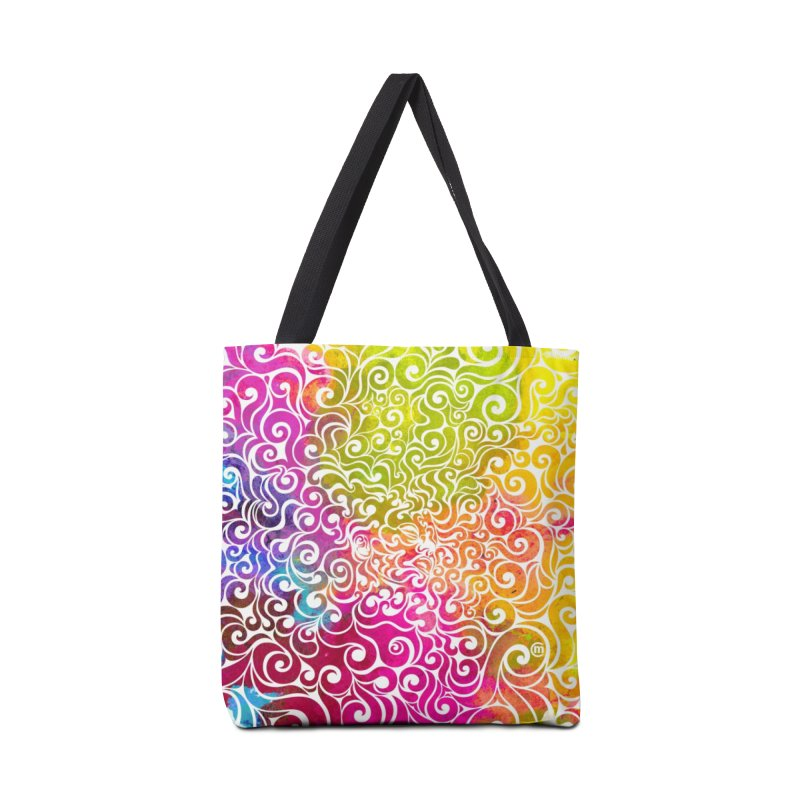 Swirly Portrait Accessories Bag by VectorInk's Artist Shop