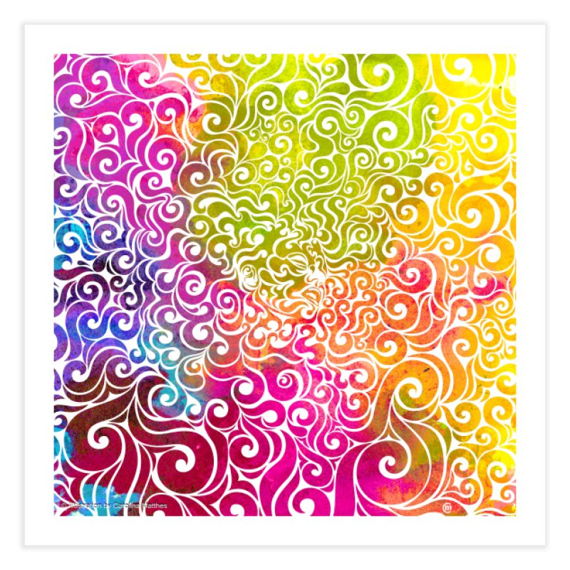Swirly Portrait Home Fine Art Print by VectorInk's Artist Shop