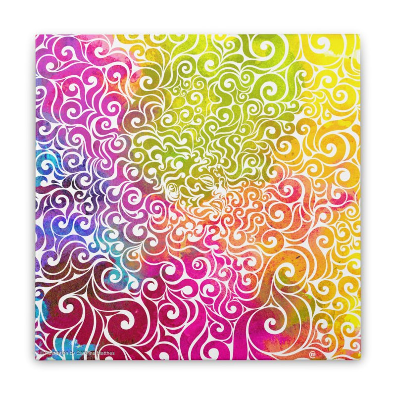 Swirly Portrait Home Stretched Canvas by VectorInk's Artist Shop