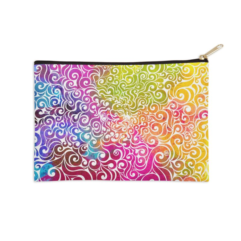 Swirly Portrait Accessories Zip Pouch by VectorInk's Artist Shop