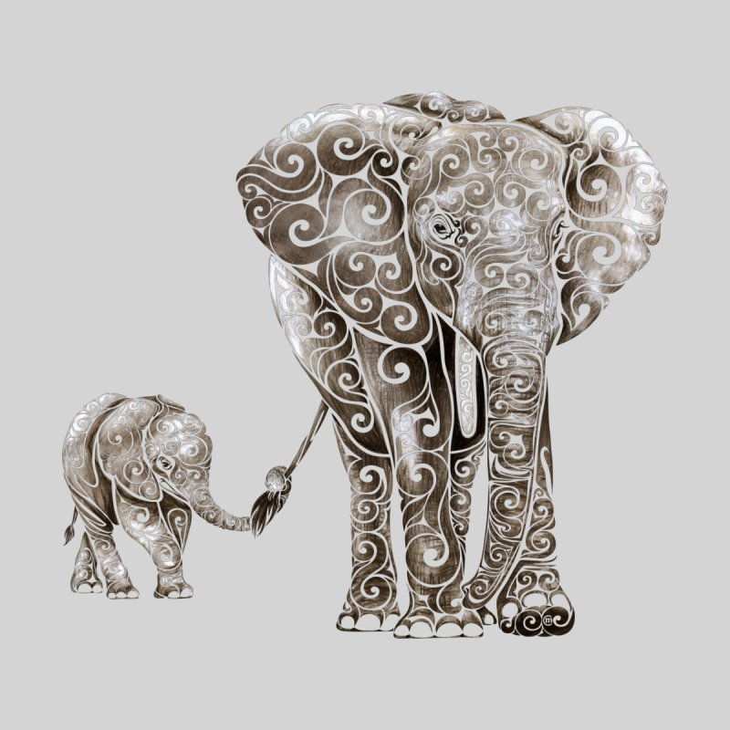 Swirly Elephant Family   by VectorInk's Artist Shop
