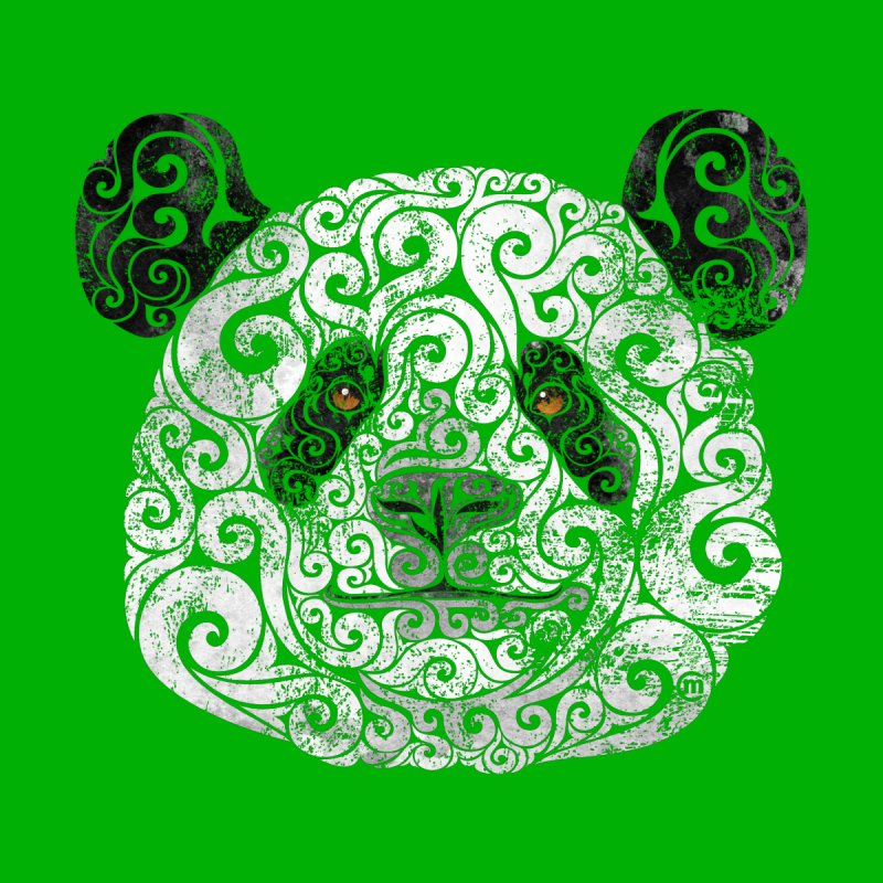 Swirly Panda None  by VectorInk's Artist Shop