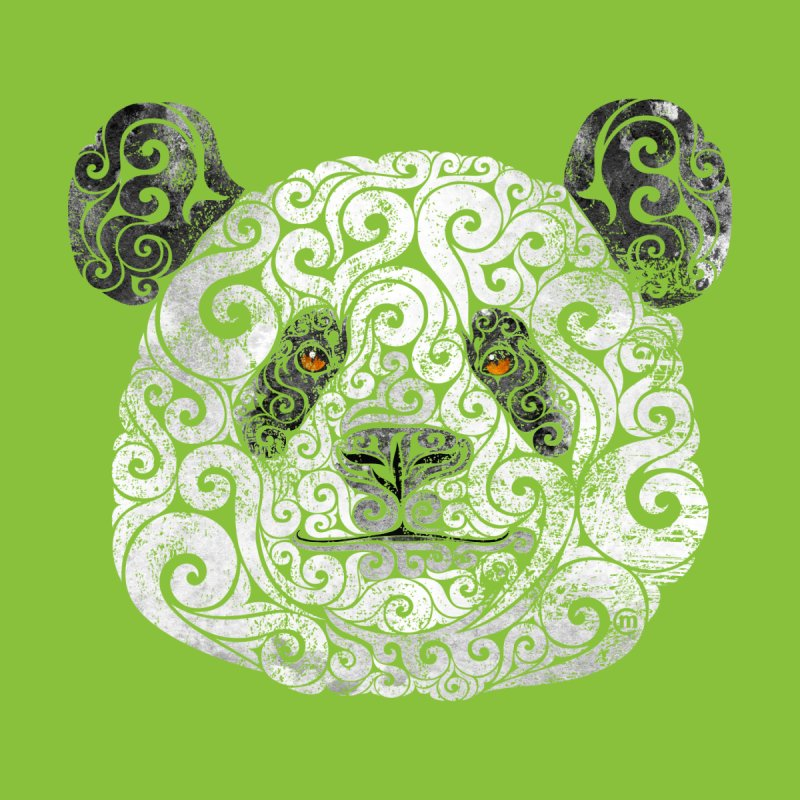 Swirly Panda None  by VectorInk's Artist Shop