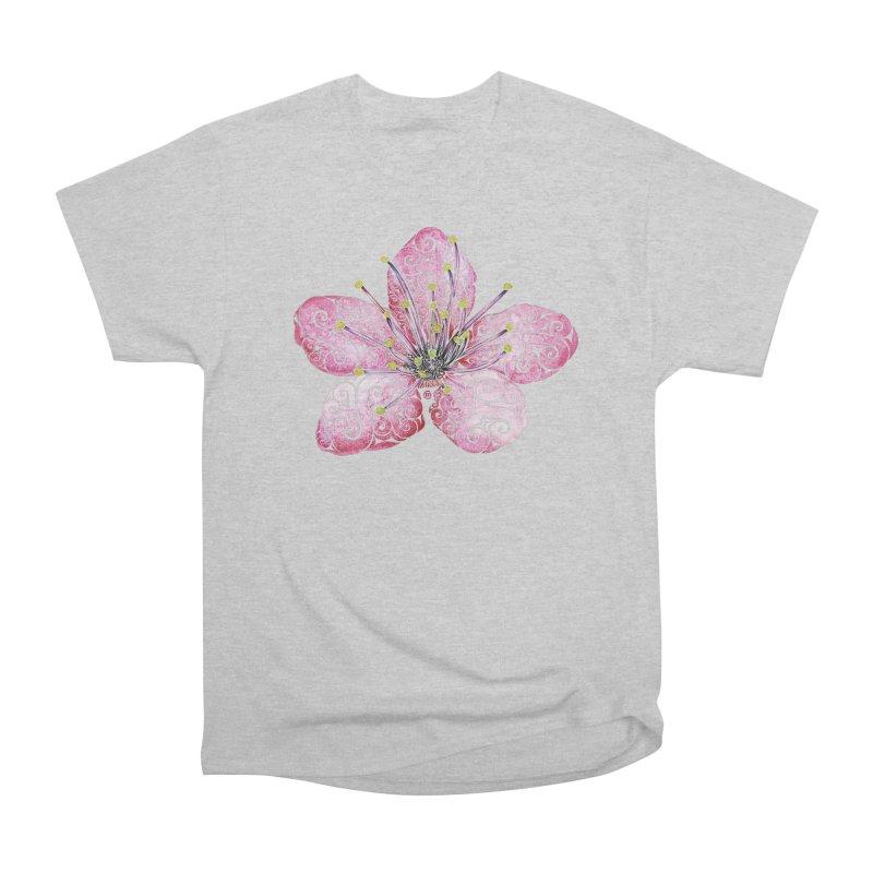 Swirly Cherry Blossom Women's Heavyweight Unisex T-Shirt by VectorInk's Artist Shop