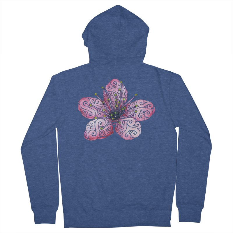Swirly Cherry Blossom Women's French Terry Zip-Up Hoody by VectorInk's Artist Shop