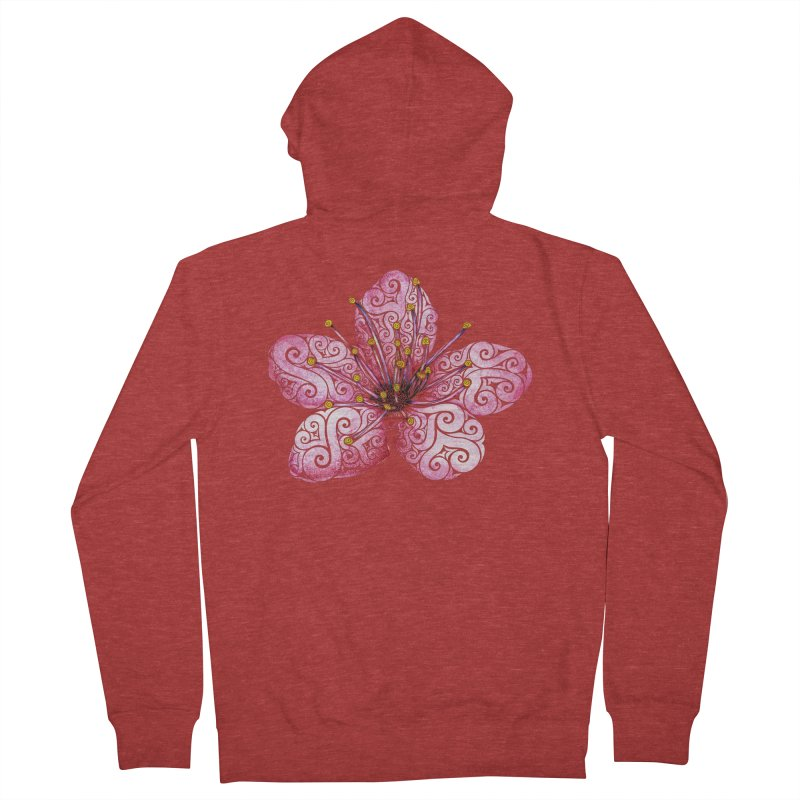 Swirly Cherry Blossom Women's Zip-Up Hoody by VectorInk's Artist Shop