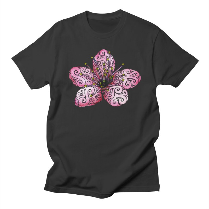 Swirly Cherry Blossom Women's Unisex T-Shirt by VectorInk's Artist Shop