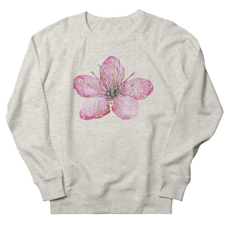Swirly Cherry Blossom Women's French Terry Sweatshirt by VectorInk's Artist Shop
