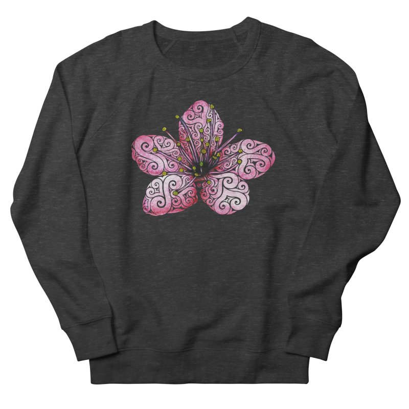 Swirly Cherry Blossom Men's French Terry Sweatshirt by VectorInk's Artist Shop