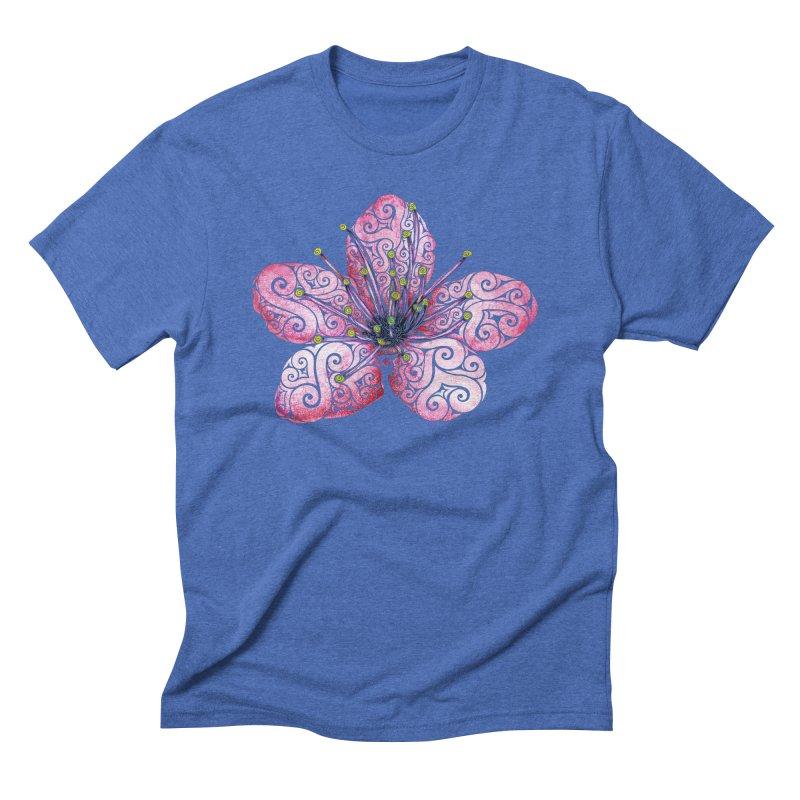 Swirly Cherry Blossom Men's Triblend T-Shirt by VectorInk's Artist Shop