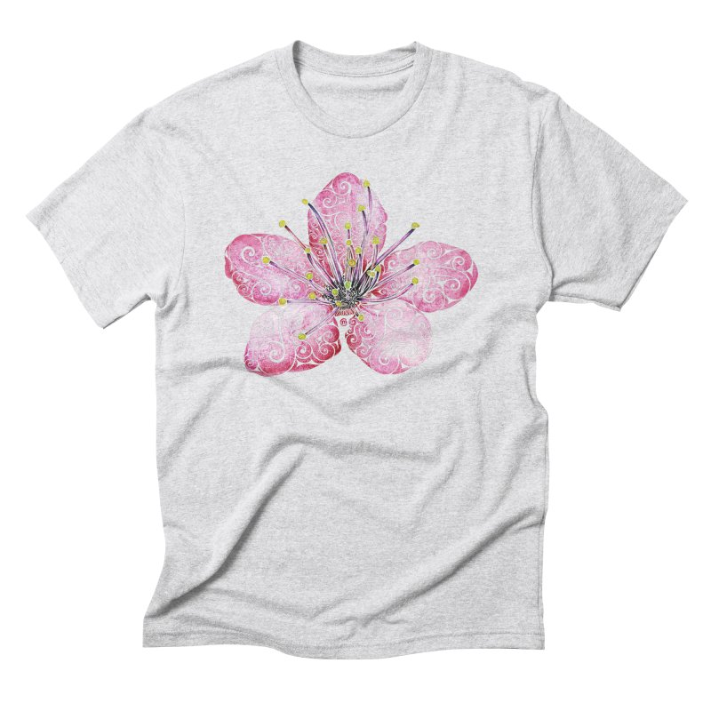 Swirly Cherry Blossom Men's Triblend T-Shirt by VectorInk's Artist Shop