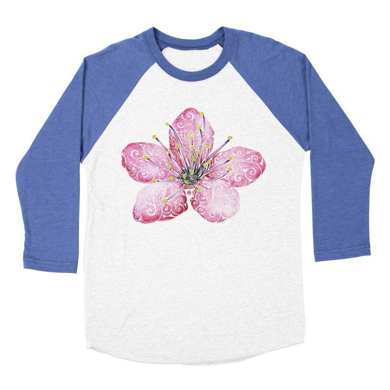 Swirly Cherry Blossom Women's Baseball Triblend T-Shirt by VectorInk's Artist Shop