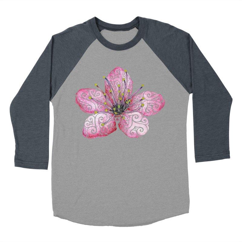 Swirly Cherry Blossom Women's Baseball Triblend Longsleeve T-Shirt by VectorInk's Artist Shop