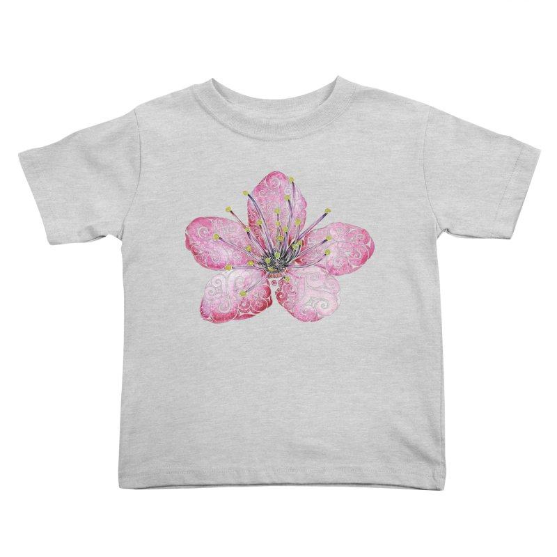 Swirly Cherry Blossom Kids Toddler T-Shirt by VectorInk's Artist Shop