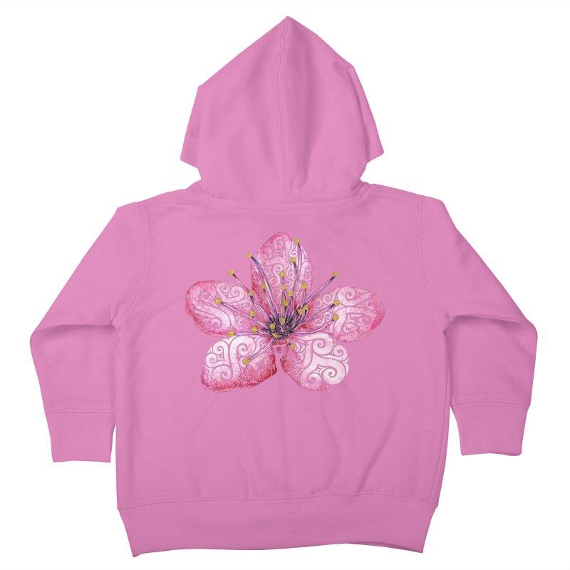 Swirly Cherry Blossom Kids Toddler Zip-Up Hoody by VectorInk's Artist Shop