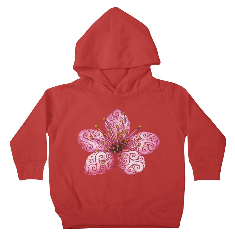 Swirly Cherry Blossom Kids Toddler Pullover Hoody by VectorInk's Artist Shop