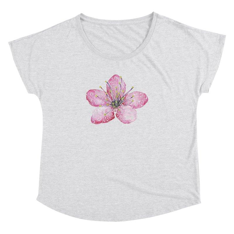 Swirly Cherry Blossom Women's Dolman by VectorInk's Artist Shop