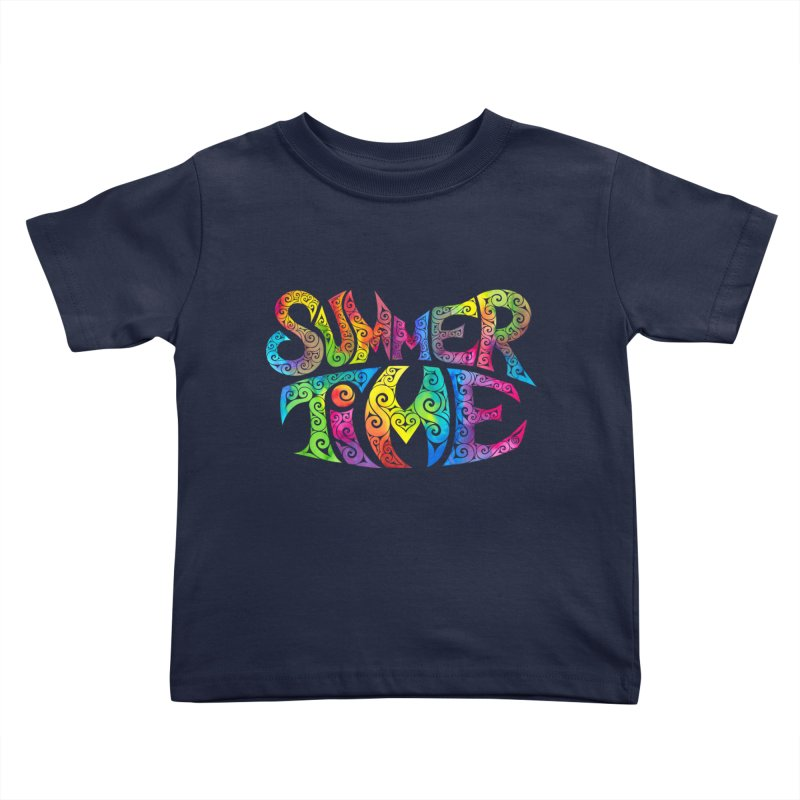 Swirly Summertime Kids Toddler T-Shirt by VectorInk's Artist Shop