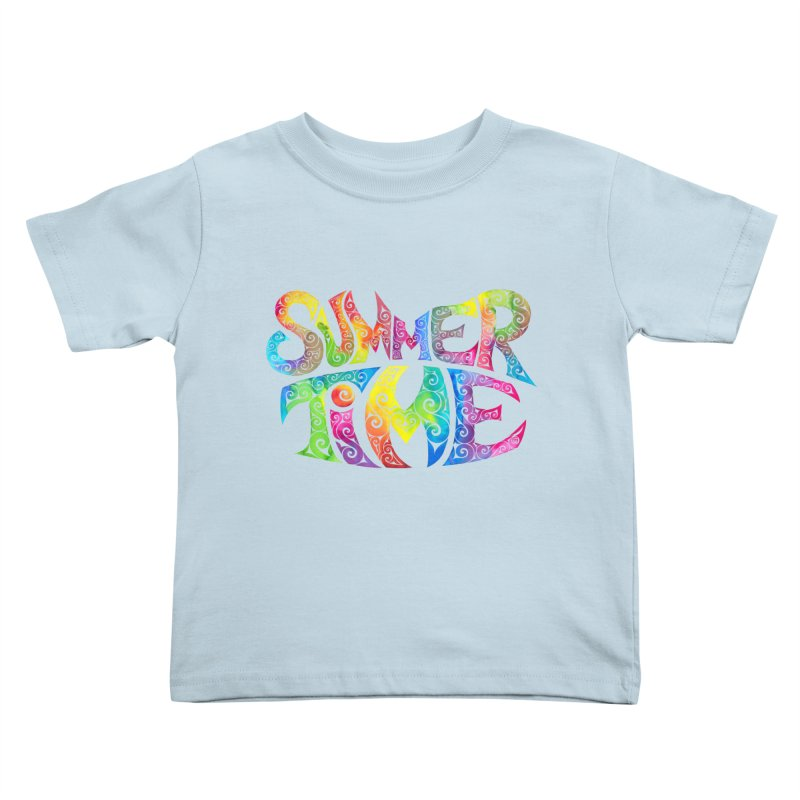 Swirly Summertime Kids Toddler T-Shirt by VectorInk's Artist Shop