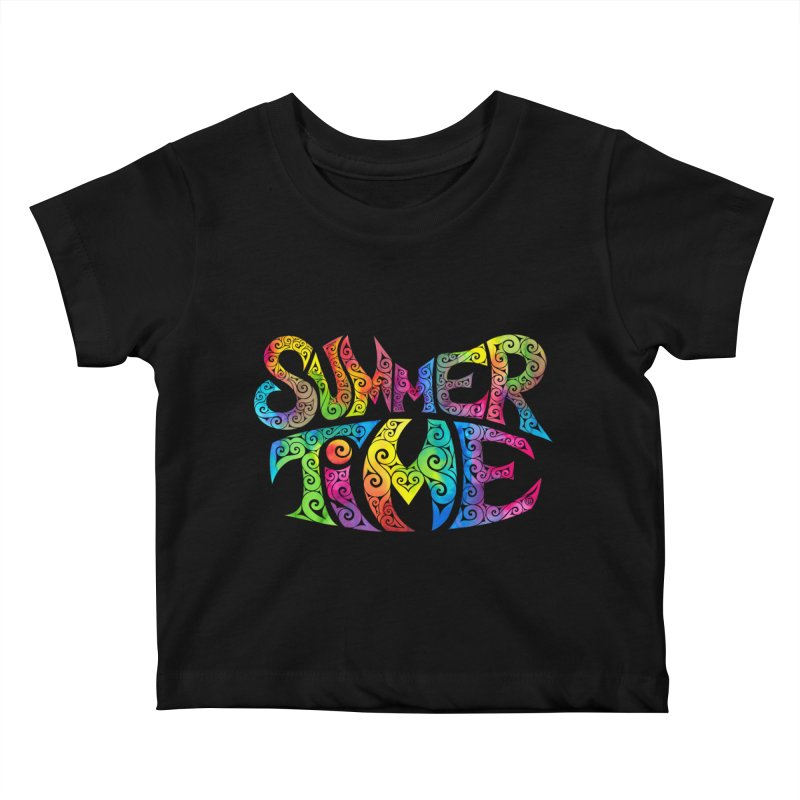 Swirly Summertime Kids Baby T-Shirt by VectorInk's Artist Shop