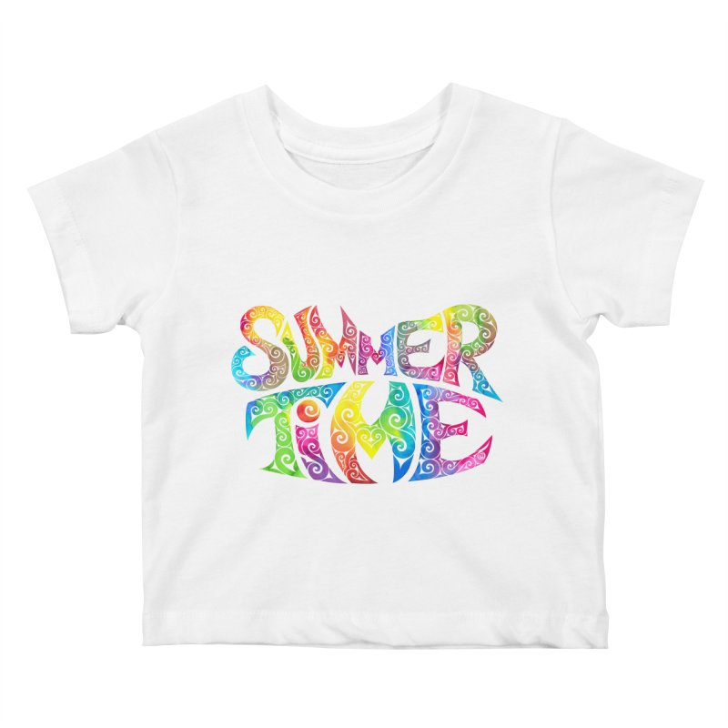Swirly Summertime Kids Baby T-Shirt by VectorInk's Artist Shop