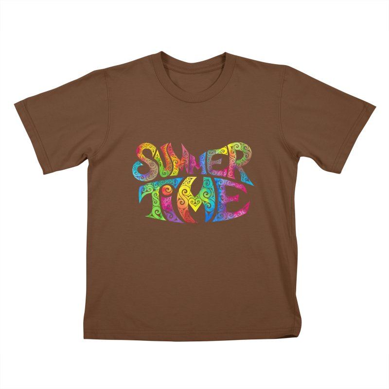 Swirly Summertime Kids T-Shirt by VectorInk's Artist Shop
