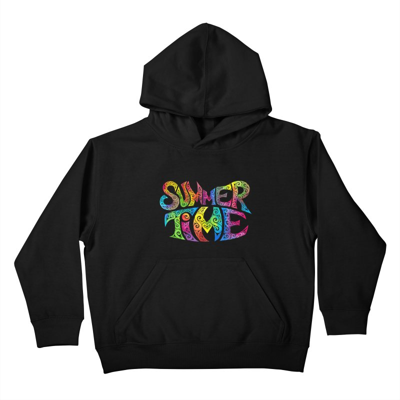 Swirly Summertime Kids Pullover Hoody by VectorInk's Artist Shop
