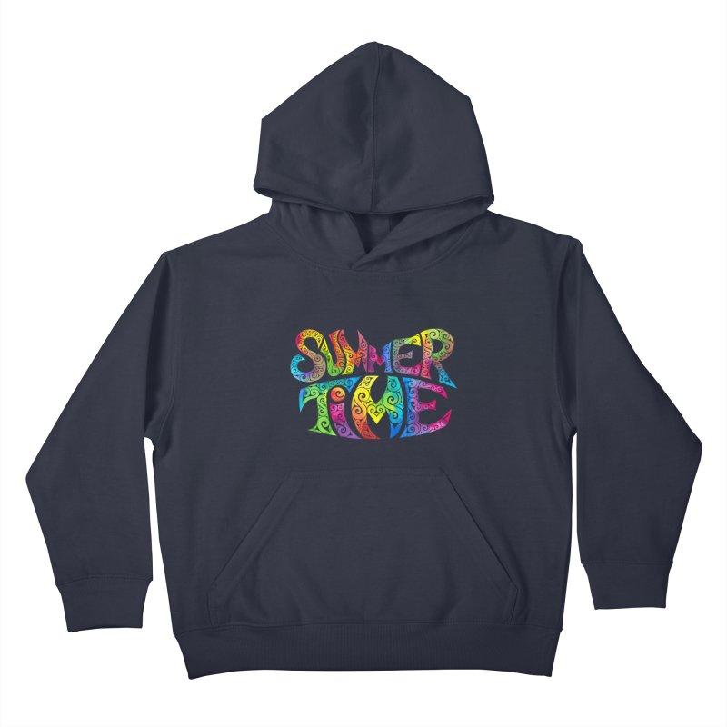Swirly Summertime Kids Pullover Hoody by VectorInk's Artist Shop