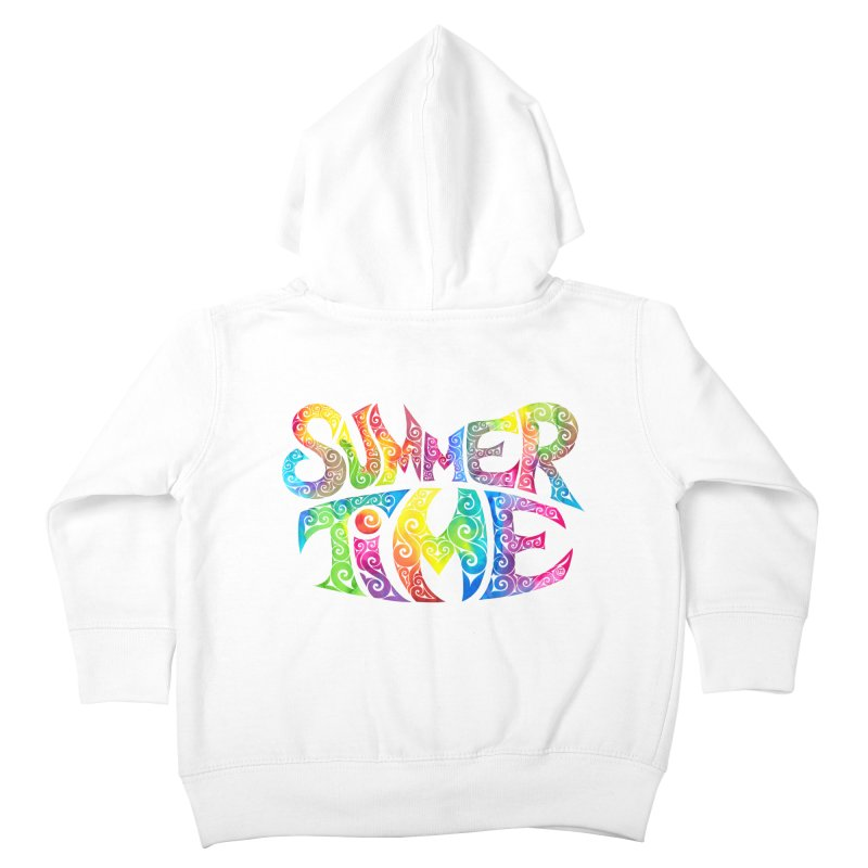 Swirly Summertime Kids Toddler Zip-Up Hoody by VectorInk's Artist Shop