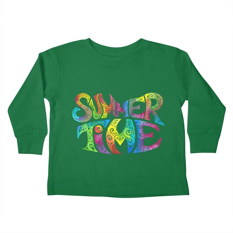 Swirly Summertime Kids Toddler Longsleeve T-Shirt by VectorInk's Artist Shop