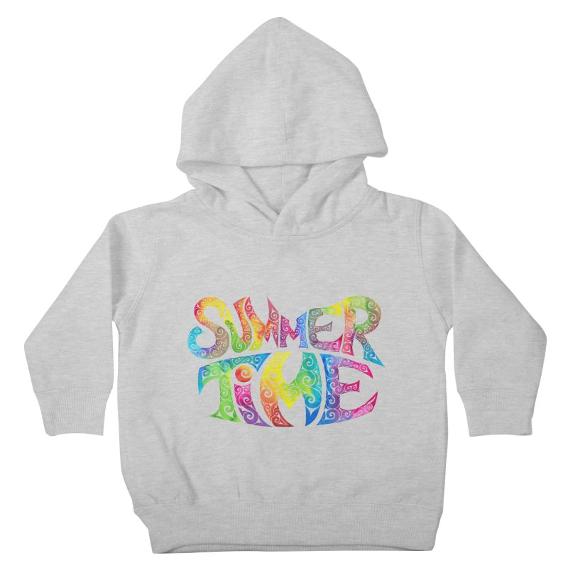 Swirly Summertime Kids Toddler Pullover Hoody by VectorInk's Artist Shop