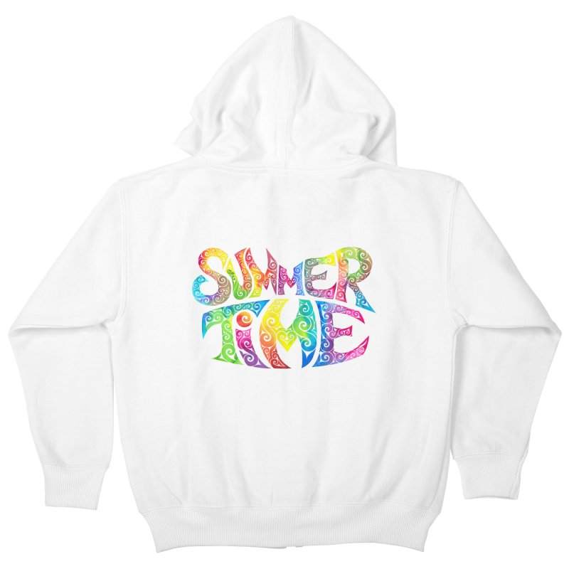 Swirly Summertime Kids Zip-Up Hoody by VectorInk's Artist Shop