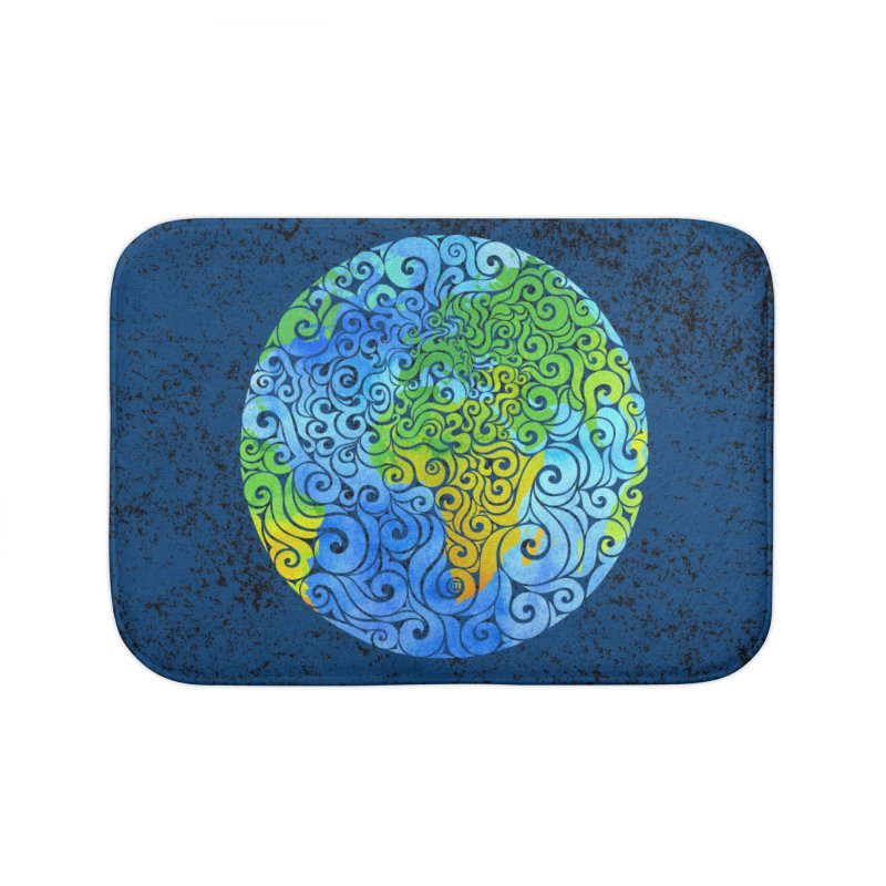 Swirly Earth Home Bath Mat by VectorInk's Artist Shop