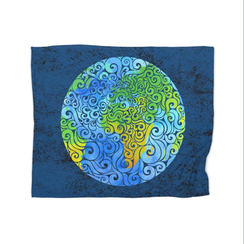 Swirly Earth Home Blanket by VectorInk's Artist Shop