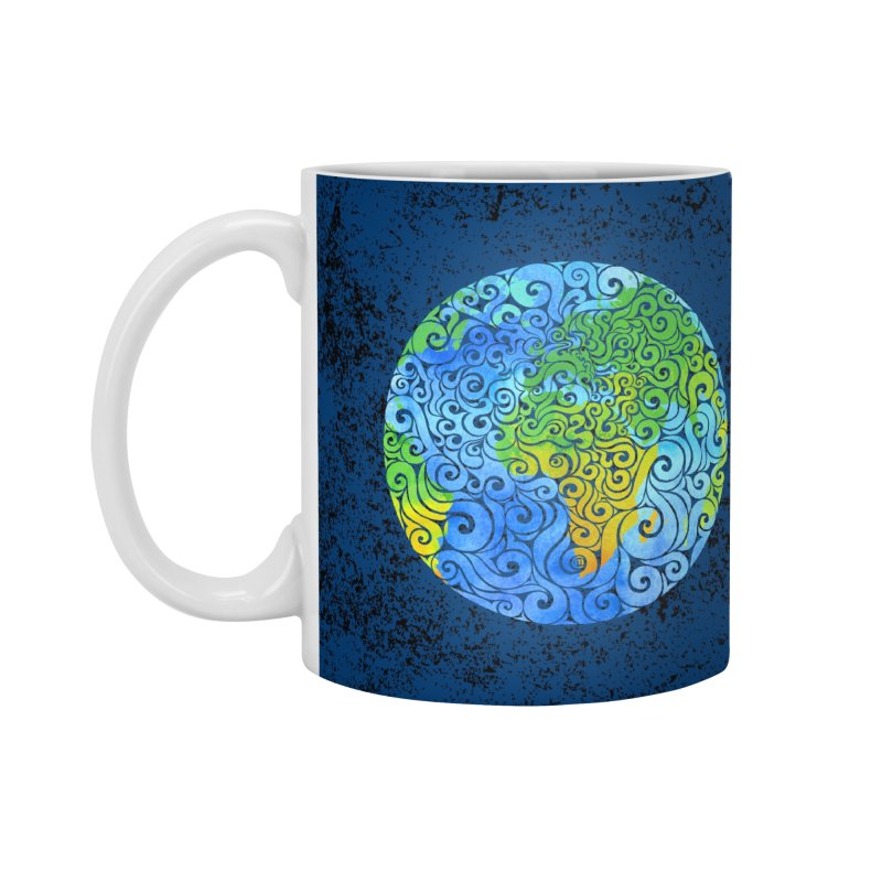 Swirly Earth Accessories Mug by VectorInk's Artist Shop