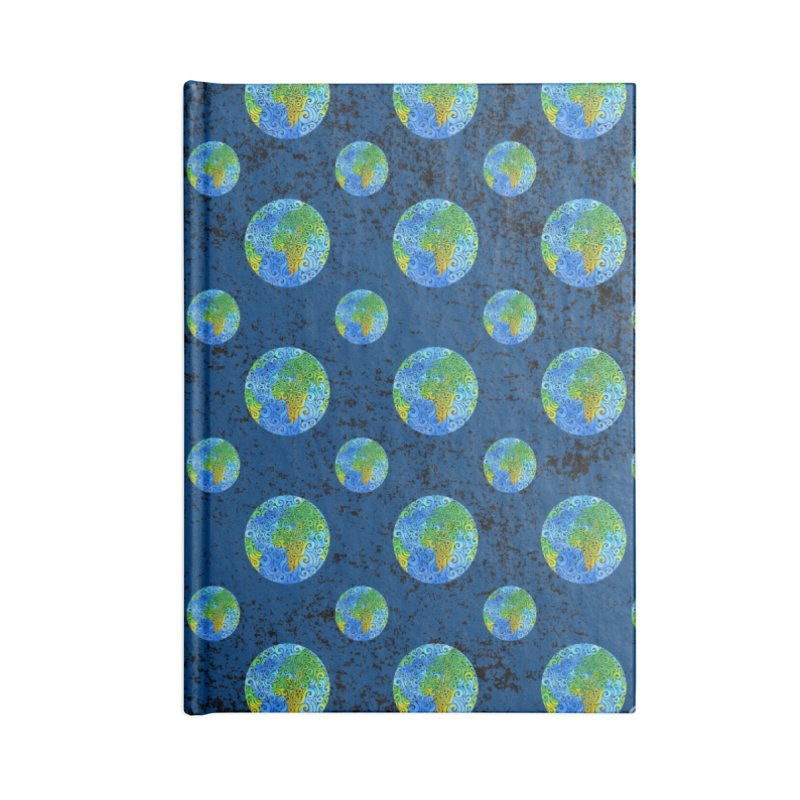 Swirly Earth Accessories Notebook by VectorInk's Artist Shop