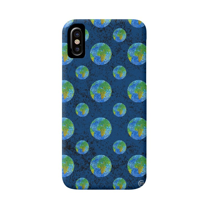 Swirly Earth Accessories Phone Case by VectorInk's Artist Shop