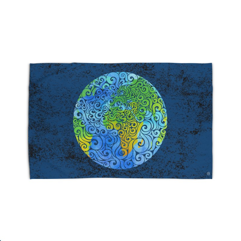 Swirly Earth Home Rug by VectorInk's Artist Shop