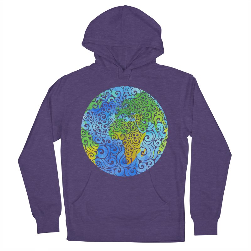 Swirly Earth Women's Pullover Hoody by VectorInk's Artist Shop