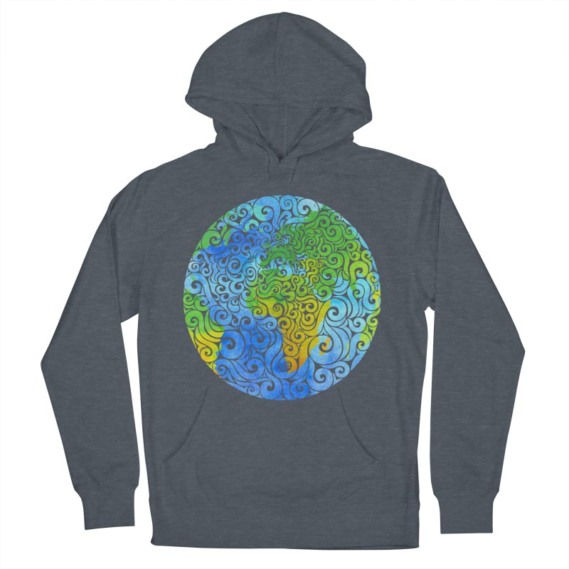 Swirly Earth Women's Pullover Hoody by VectorInk's Artist Shop
