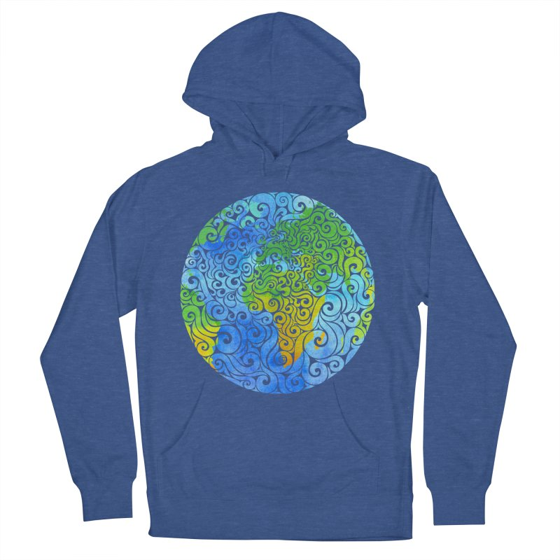Swirly Earth Men's Pullover Hoody by VectorInk's Artist Shop