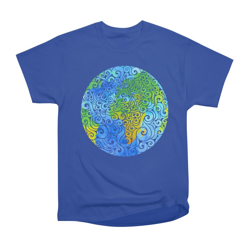 Swirly Earth Women's Classic Unisex T-Shirt by VectorInk's Artist Shop