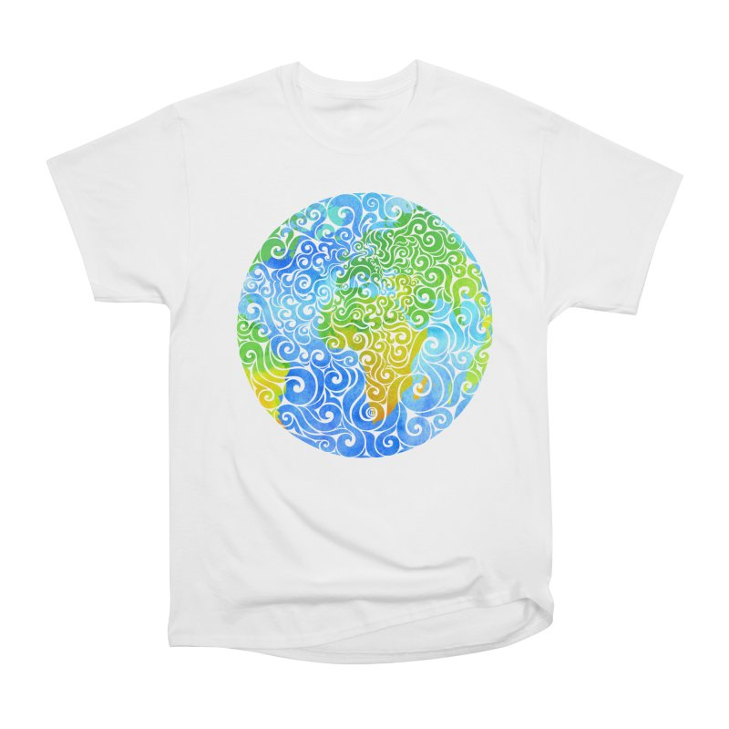 Swirly Earth Men's Classic T-Shirt by VectorInk's Artist Shop