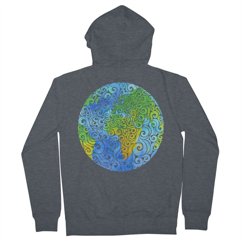 Swirly Earth Women's Zip-Up Hoody by VectorInk's Artist Shop