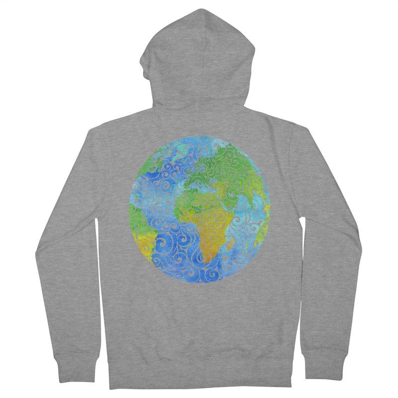 Swirly Earth Men's Zip-Up Hoody by VectorInk's Artist Shop