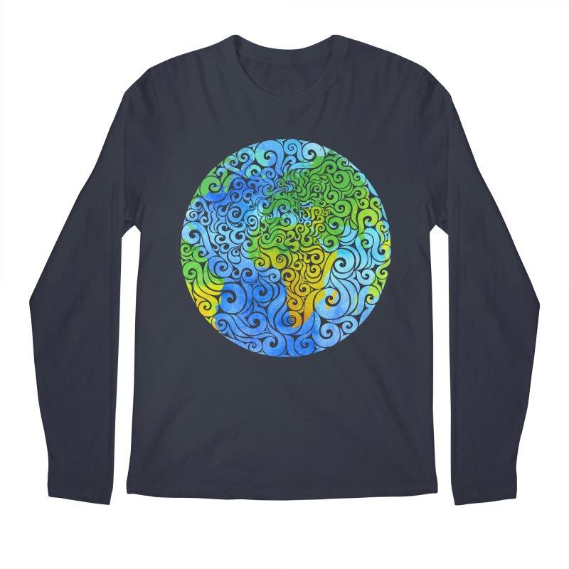 Swirly Earth Men's Longsleeve T-Shirt by VectorInk's Artist Shop