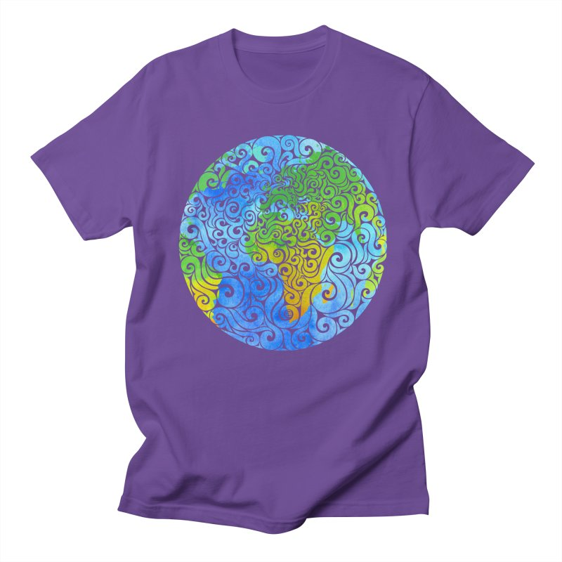 Swirly Earth Men's T-Shirt by VectorInk's Artist Shop